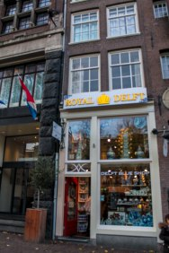 Check out a Delft Blue shop for Dutch souvenirs